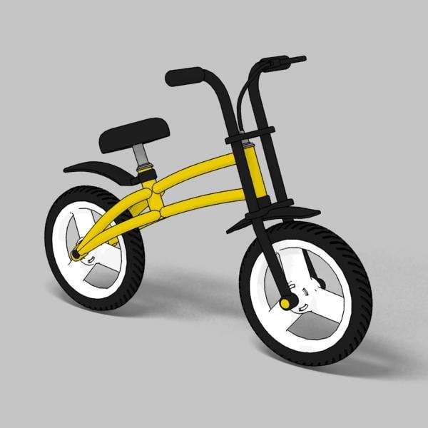 child bike toon 3d max