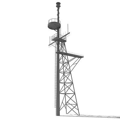 3d industrial tower model