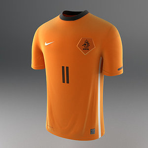 dutch soccer shirt - 3d max