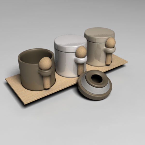 containers spices 3d model