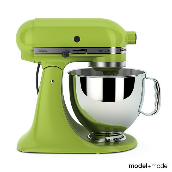 stand mixer kitchen aid 3d model