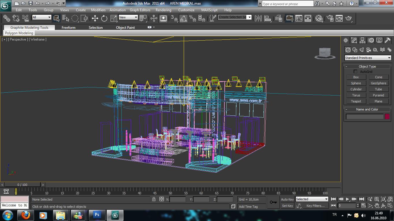 Exhibition Stand Design 3d Max : Aren medikal exhibition stand d model