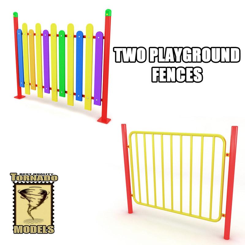 3ds max playground fences