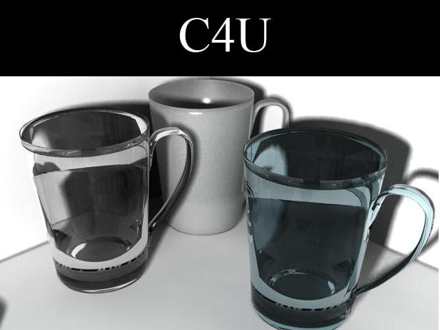 3 tea cups 3d max