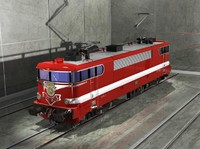 electric locomotive 3d model