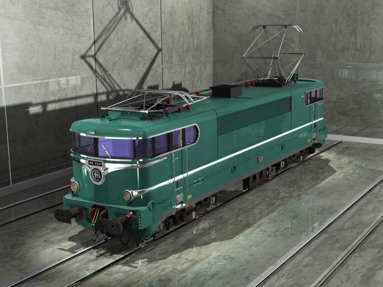 3d model sncf bb 9200 green