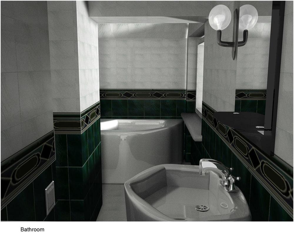 bathroom bath sink 3d model