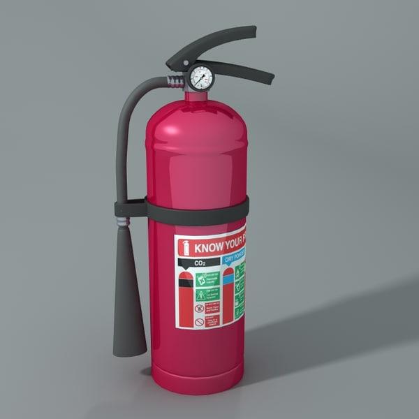 extinguisher 3d obj