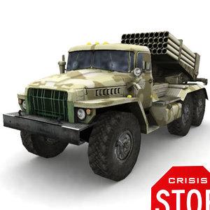 3d soviet military 6x6 model