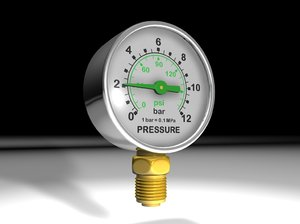 3d manometer pressure gauge
