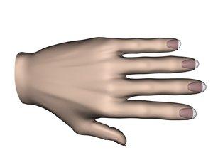 obj hand man