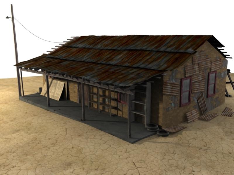 hi shack 3d model