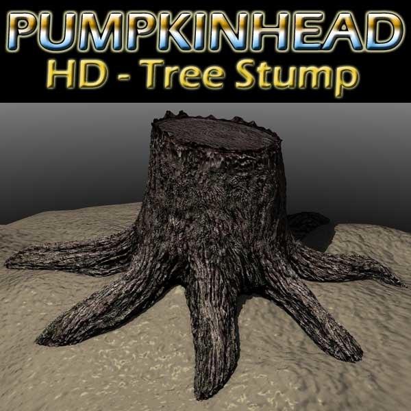3d model tree stump