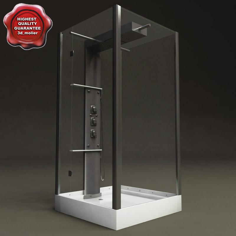 shower hydromassage cabin 3d model