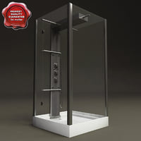 shower hydromassage cabin 3d model