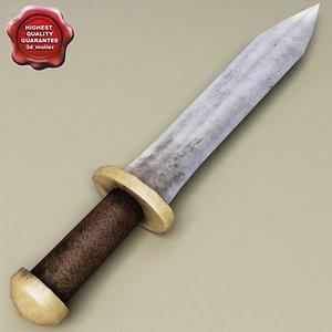 3d model of rome sword
