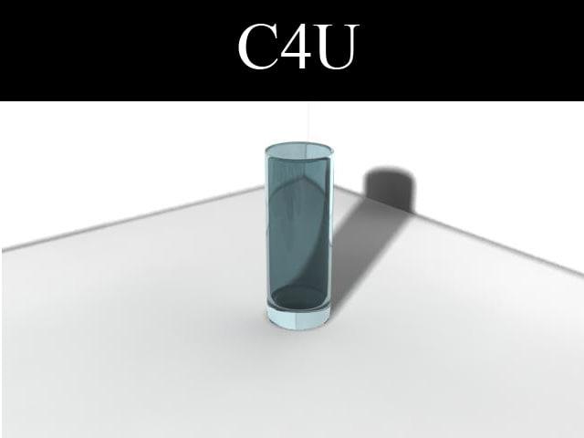 blue glass 3d max