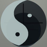 glass table ying yang 3ds free