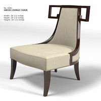 baker thomas pheasant  greek lounge chair armchair 631 modern art deco contemporary