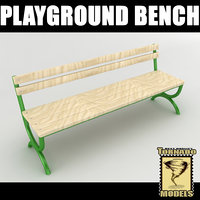 3d model playground bench