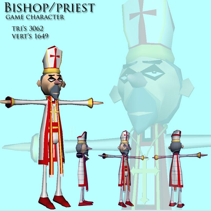 clergy man 3d ma