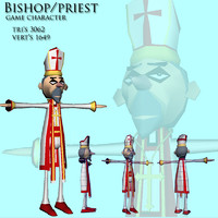 clergy man 3d ma