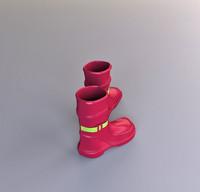 boots modelled 3d model