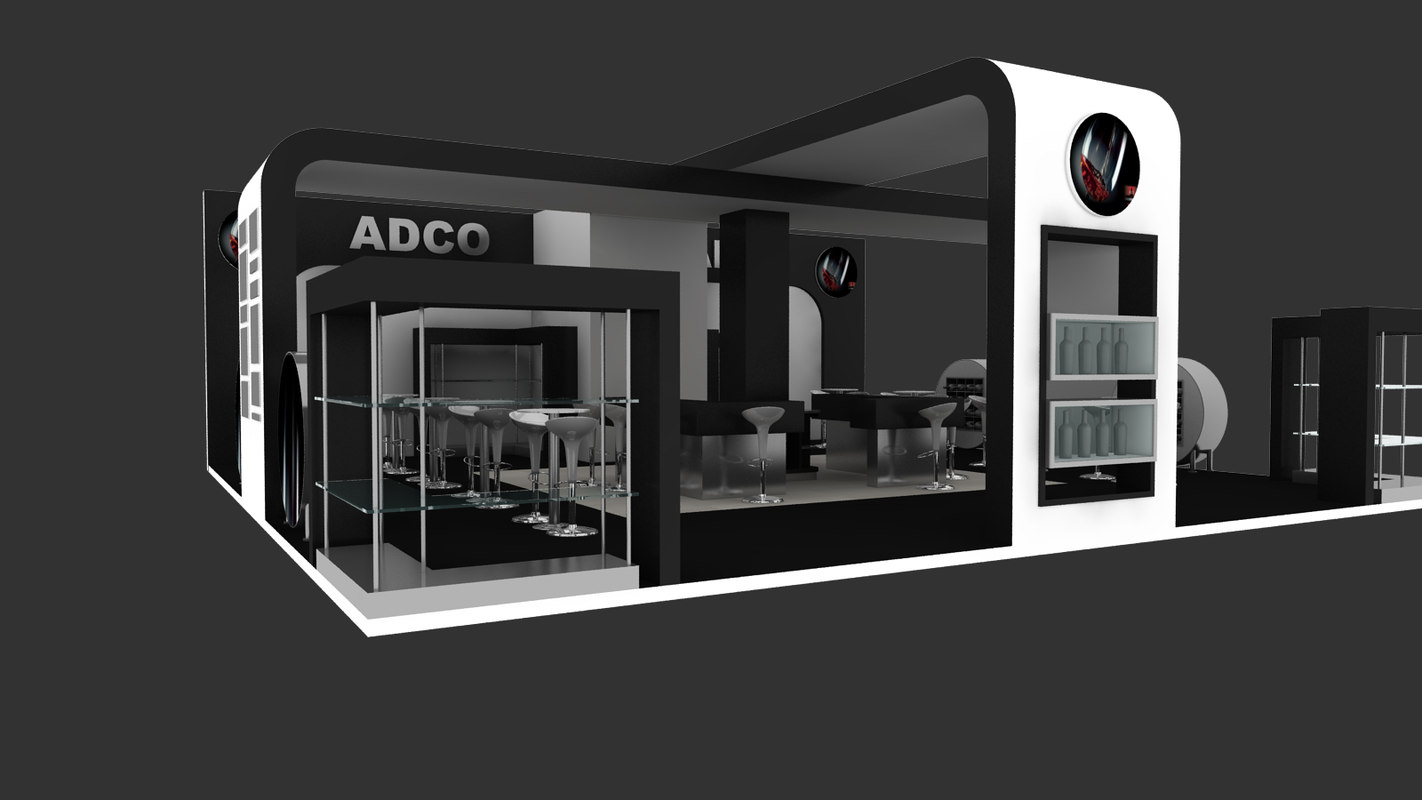 free adco exhibition stand design 3d model