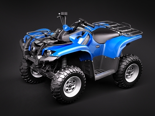 yamaha grizzly 700fi 3d model