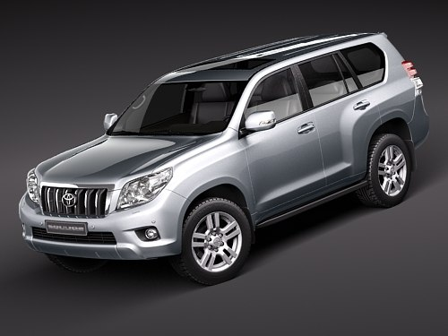 toyota landcruiser 2010 suv 3d model
