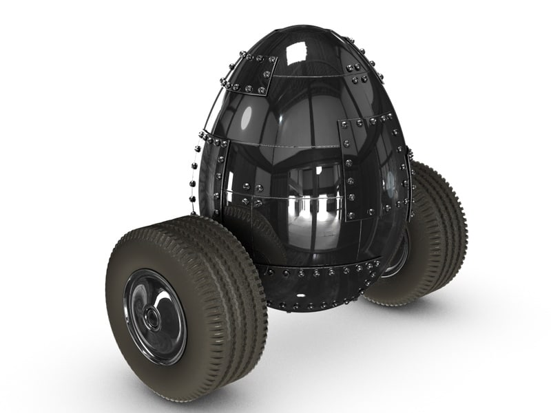 3ds max driving metal egg