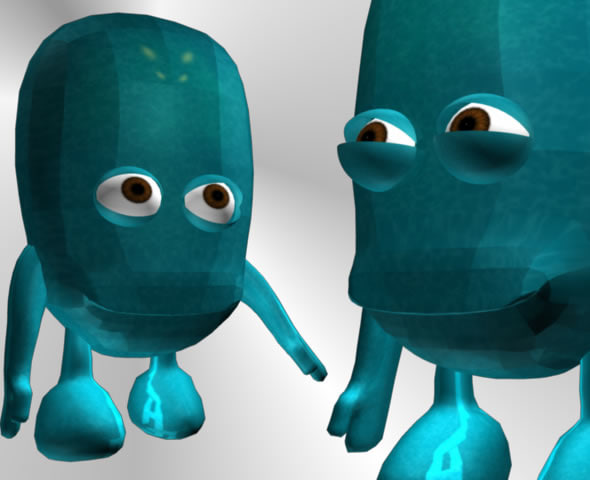 cute baby alien cartoon 3d model