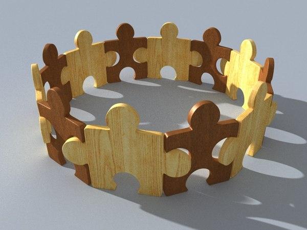 c4d puzzle ring