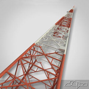 communication tower antenna 3d model