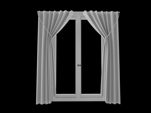 curtains door 3d model