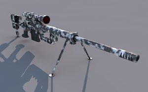 intervention sniper 3d model