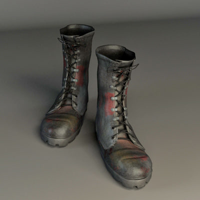 3d model soldier boot