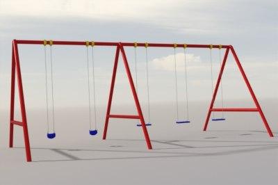 swing set 3d model