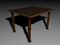 Old rickety table