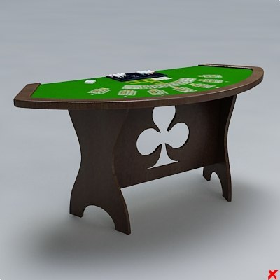 3d table card