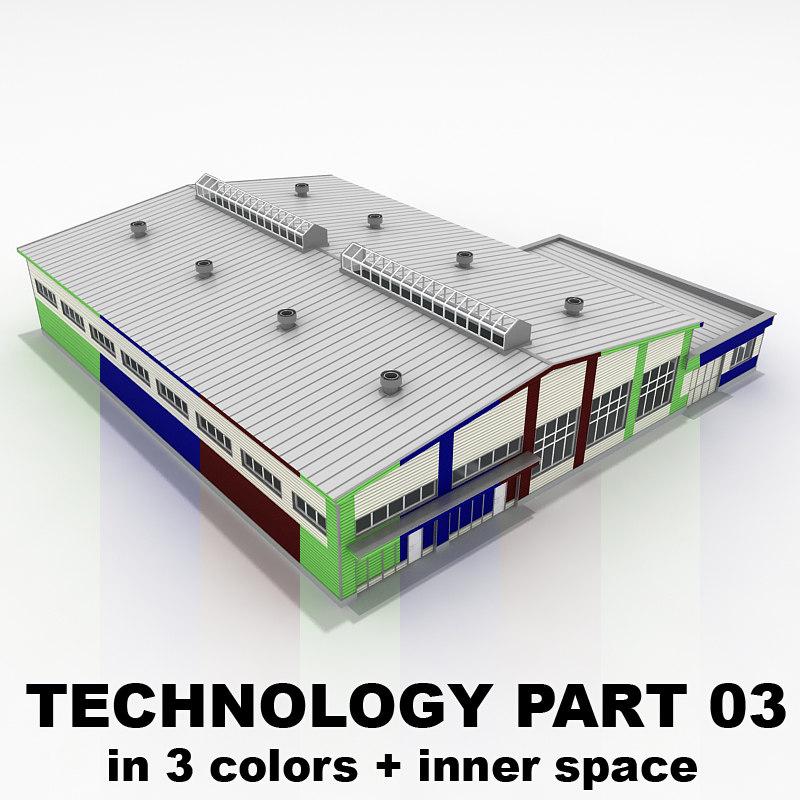 3d model 03 building industrial