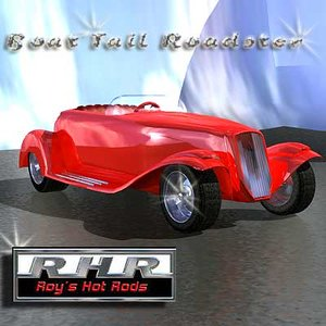 3d model of hot rods boat tail