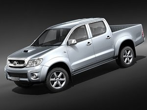toyota hilux pickup double 3d model