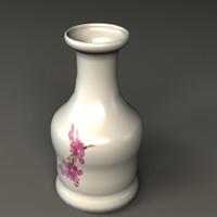vase porcelain 3d model
