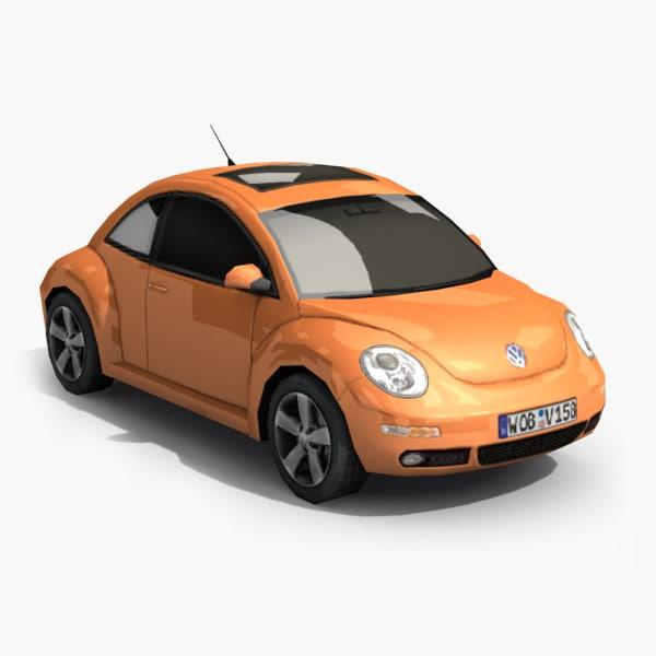 new beetle 3d obj