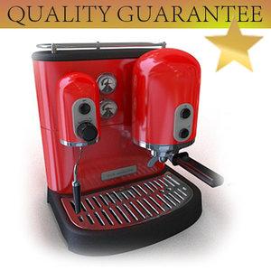 artisan espresso 3d model