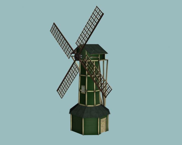 windmill wind 3d obj