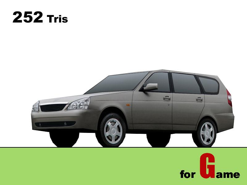 lada priora universal cars 3d 3ds