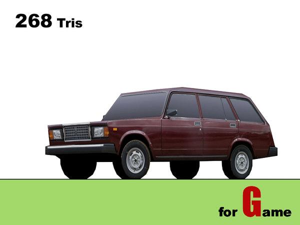 3d lada combi cars model