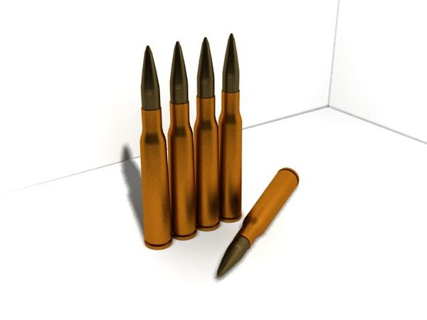 3d 12 7mm bullet